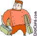 bell boy Vector Clip Art picture
