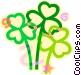 St. Patrick's Day shamrocks Vector Clip Art image