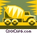 cement truck Vector Clip Art graphic