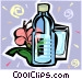 Bottled water Vector Clip Art image