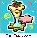 Pudding dessert Vector Clipart picture