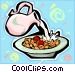 breakfast cereal Vector Clipart image
