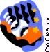 baseball glove Vector Clip Art graphic