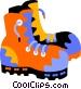work boots Vector Clip Art image