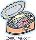 can of sardines Vector Clipart graphic
