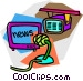 news broadcast Vector Clipart graphic