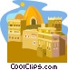 Africa, Cameroon - Clay house, Yemen - Rawdah Vector Clip Art graphic