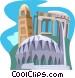 Leptis Magna, Konttonbia Mosque minaret Vector Clipart image