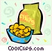 Potato chips Vector Clip Art image