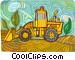 Front End Loader Vector Clip Art graphic