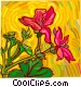 Flowers with colorful background Vector Clip Art picture
