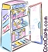 Refrigerator full of food Vector Clipart graphic