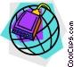 modem with globe design Vector Clip Art picture