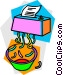paper shredder Vector Clipart illustration