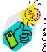 coin toss Vector Clipart image