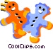 gingerbread men Vector Clip Art graphic
