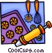 Baking equipment Vector Clipart graphic