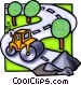 steam roller Vector Clipart image