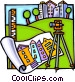 survey equipment Vector Clip Art graphic