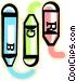 crayon Vector Clipart graphic