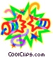 fire works Vector Clipart picture