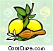 Lemons on branch Vector Clipart picture