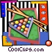 Pool table Vector Clipart illustration