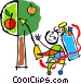 spraying trees with pesticide Vector Clipart graphic