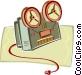 movie projector Vector Clip Art image