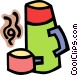 cup and thermos Vector Clip Art graphic