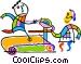 treadmill Vector Clip Art image