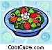 Salads Vector Clipart picture