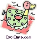 water toy Vector Clip Art image