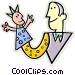 Puppet show Vector Clip Art picture