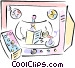 News broadcaster Vector Clipart image