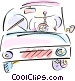 Man driving car Vector Clipart picture