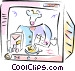 Cooking tv show Vector Clipart illustration