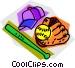 baseball equipment Vector Clip Art picture