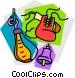 Boxing equipment Vector Clip Art image