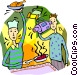 Filming a cooking show Vector Clip Art image