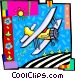airplane Vector Clip Art image