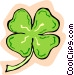 Four leaf clover Vector Clipart image