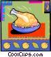 Thanksgiving turkey Vector Clipart illustration