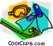 Mask snorkel and fins Vector Clipart illustration