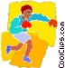 Boxer sparring Vector Clip Art picture