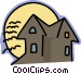 haunted house Vector Clipart graphic