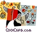 traditional medicine and a Vector Clipart picture
