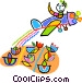 crop duster dusting crops Vector Clipart graphic