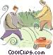 yard work Vector Clipart illustration