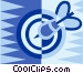 Dart and dartboard Vector Clipart illustration